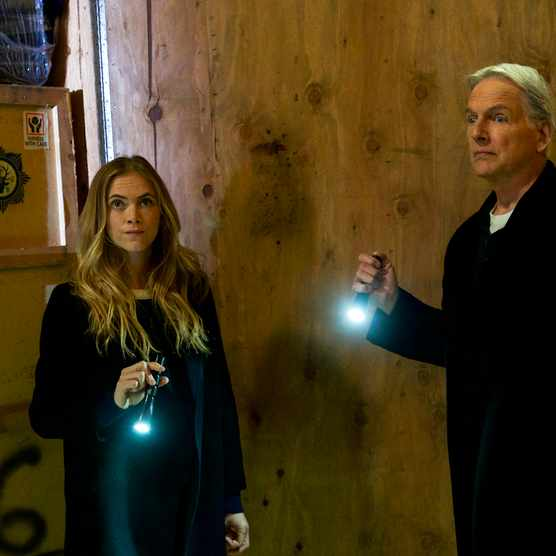 "LOS ANGELES - FEBRUARY 2: ""One Man's Trash"" -  Gibbs and Ducky see an antique war stick on television that could be the missing murder weapon to a 16-year-old cold case, on NCIS, Tuesday, March 13 (8:00-9:00 PM, ET/PT) on the CBS Television Network. Mike Wolfe of ""American Pickers""? guest stars as himself. Pictured: Mark Harmon, Emily Wickersham.   (Photo by Monty Brinton/CBS via Getty Images)  Getty, TL"