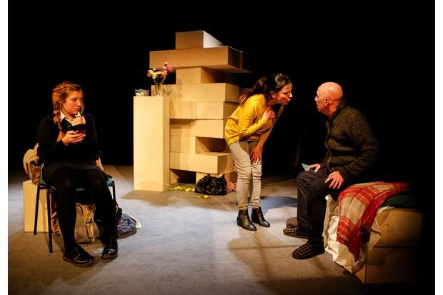 Hayley Wareham, Cathy Owen and Alex Jones in Cathy (photos: Pamela Raith)