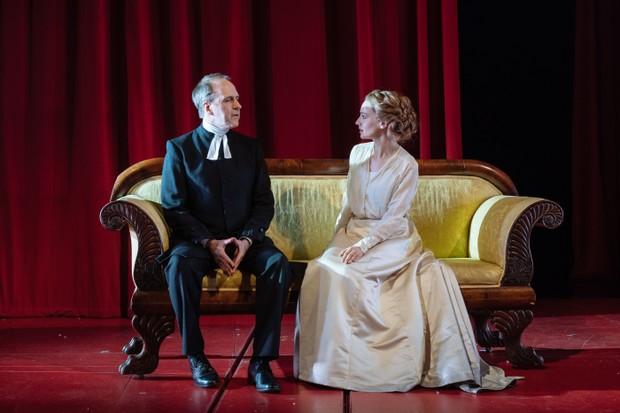 Kevin Doyle and Catherine Walker as Bishop Edvard and Emilie Ekdahl (photos: Manual Harlan)