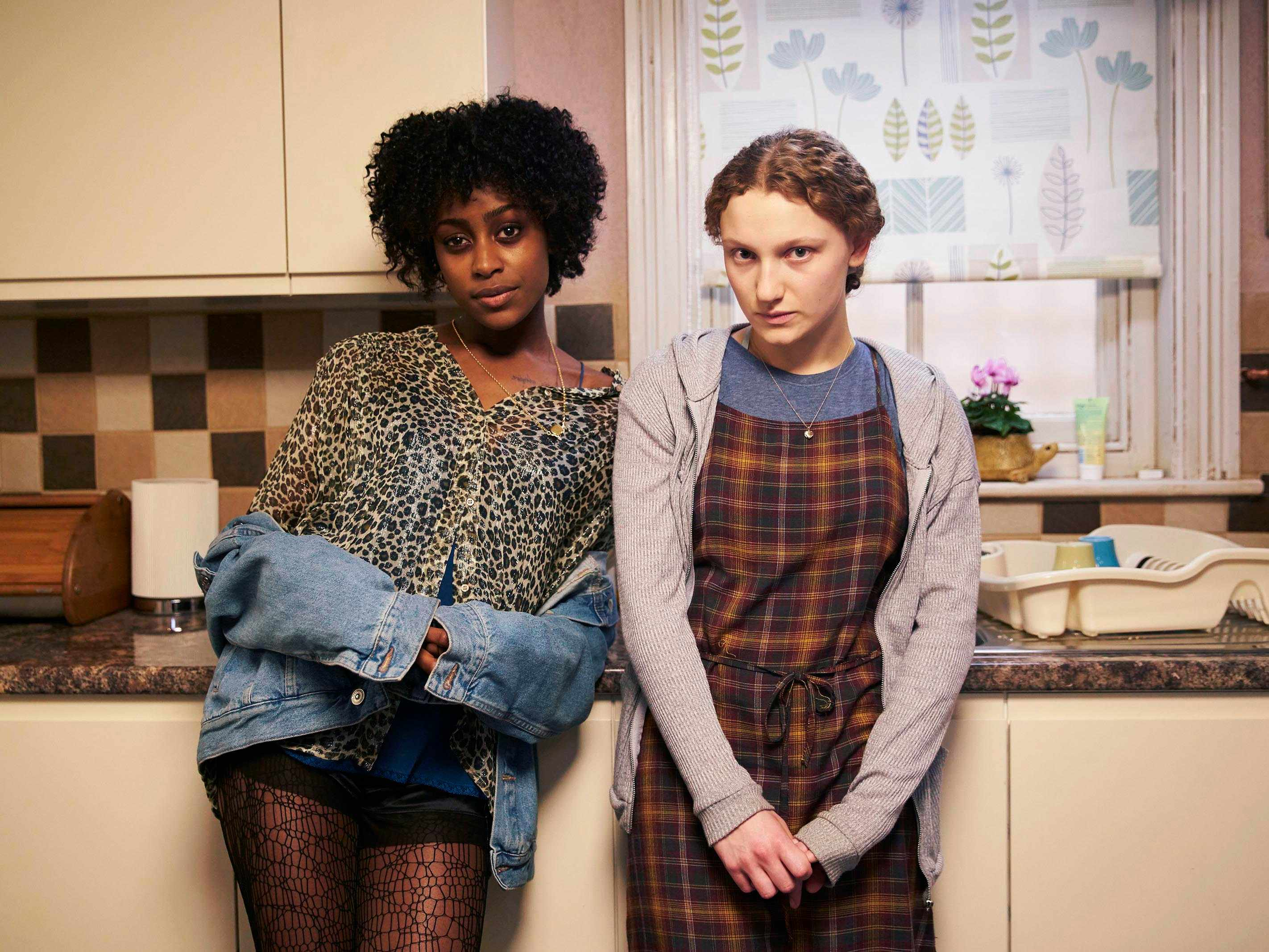 Simona Brown as Tess and Tallulah Haddon as Leila, Kiss Me First (Channel 4, EH)