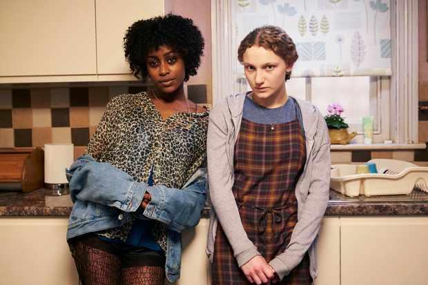 Simona Brown as Tess and Tallulah Haddon as Leila, Kiss Me First (Channel 4, EH)