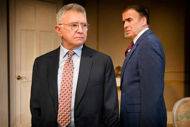 Martin Shaw (William Russell) and Jeff Fahey (Joseph Cantwell) in The Best Man at The Playhouse