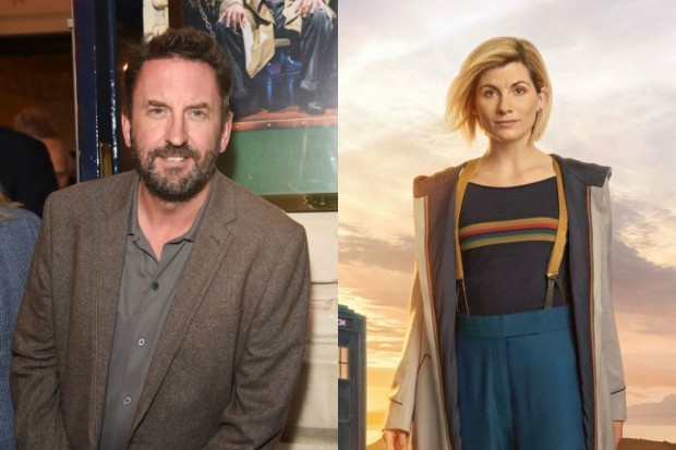 Lee Mack with Doctor Who's Jodie Whittaker (Getty, BBC, HF)
