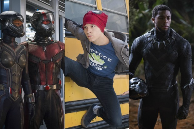 Ant-Man and the Wasp, Spider-Man and Black Panther in various Marvel movies (Marvel, HF)