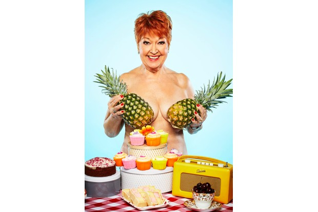 Ruth Madoc takes part in the Calendar Girls-style photoshoot ahead of The Real Full Monty: Ladies' Night (Nicky Johnston/ITV)