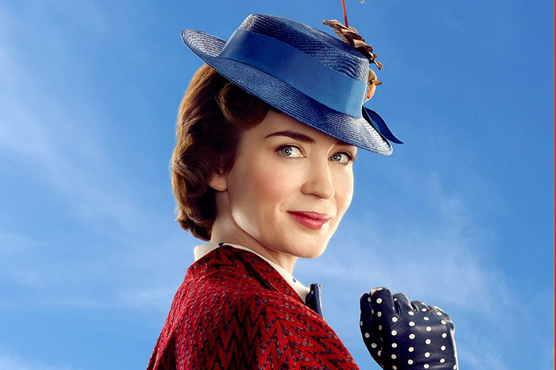 Mary Poppins (Emily Blunt) in Disney's original musical MARY POPPINS RETURNS (Disney, HF)