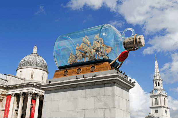 Nelson's ship in a bottle (Alamy from RT mag, EH)
