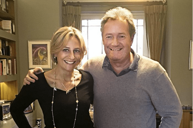 Emily Maitlis and Piers Morgan (RT mag, EH)