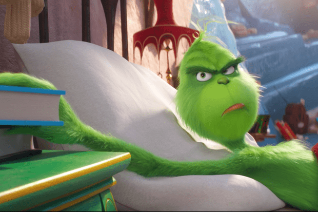 benedict cumberbatch is a great big meanie in the new trailer for the grinch