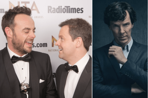 Ant and Dec and Sherlock (RadioTimes.com, BBC, EH)