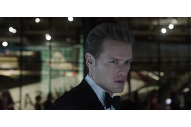 The Spy Who Dumped Me trailer features a brief look at Outlander star Sam Heughan looking very Bond-esque (YouTube, JG)