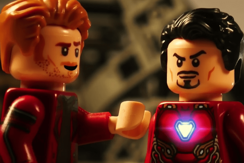 A shot from the Lego remake of the Avengers: Infinity War trailer (YouTube, HF)