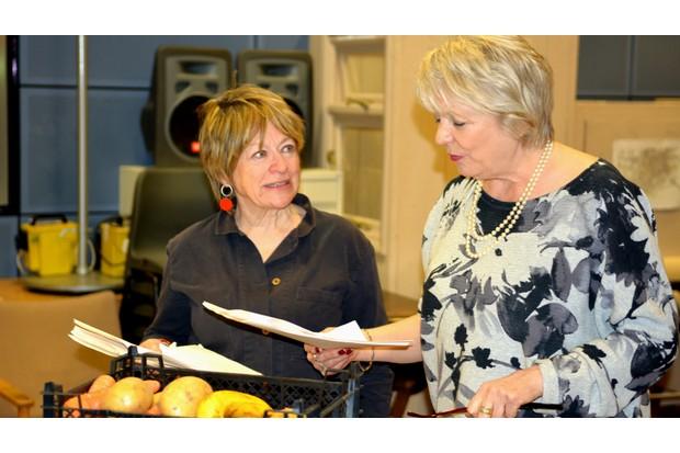 Sheila Dillon and Alison Steadman in Ambridge_credit BBC (4)