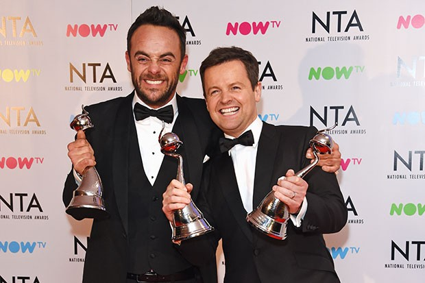 Ant and Dec at the NTA Awards, Getty, SL