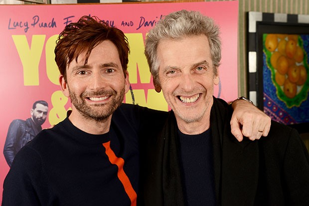 Former Doctors David Tennant and Peter Capaldi went to see Mark Gatiss live on stage