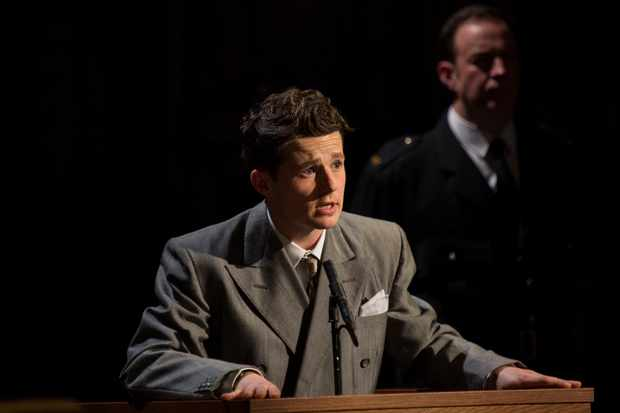 11 Harry Reid as Leonard Vole in Witness for the Prosecution at London County Hall Credit Ellie Kurttz
