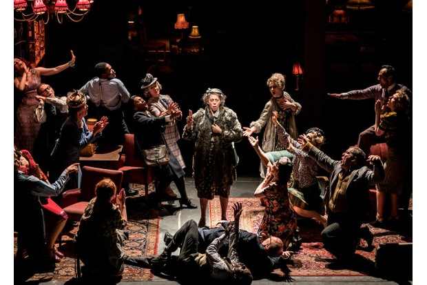 The Company with Eileen Walsh as Madge (photos: Johan Persson)