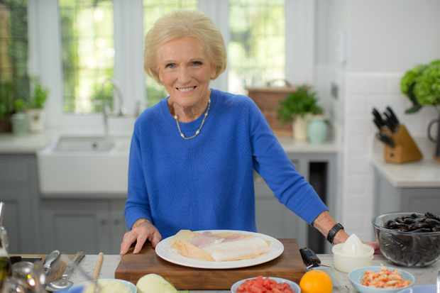 Programme Name: Classic Mary Berry - TX: n/a - Episode: The Great Outdoors (No. 5 - The Great Outdoors) - Picture Shows: making her Classic Bouillabaisse. Mary Berry - (C) Endemol Shine UK - Photographer: Production