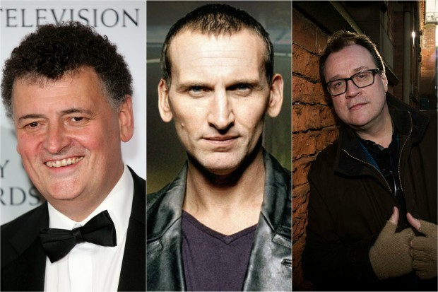 Steven Moffat, Christopher Eccleston and Russell T Davies (Getty, BBC, HF)