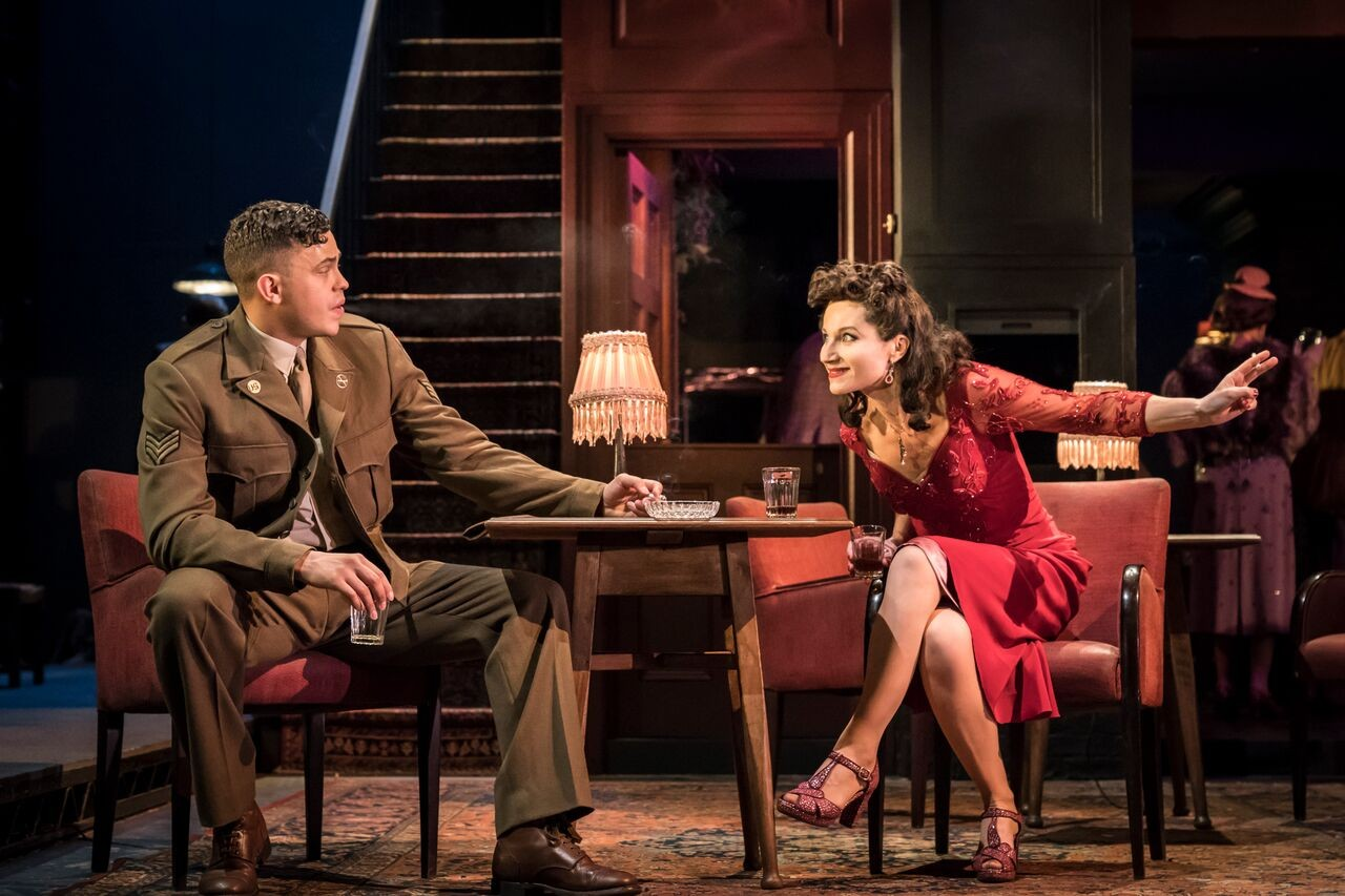 Aaron Heffernan as Butch and Kate Fleetwood as Christine,  (photo: Johan Persson)