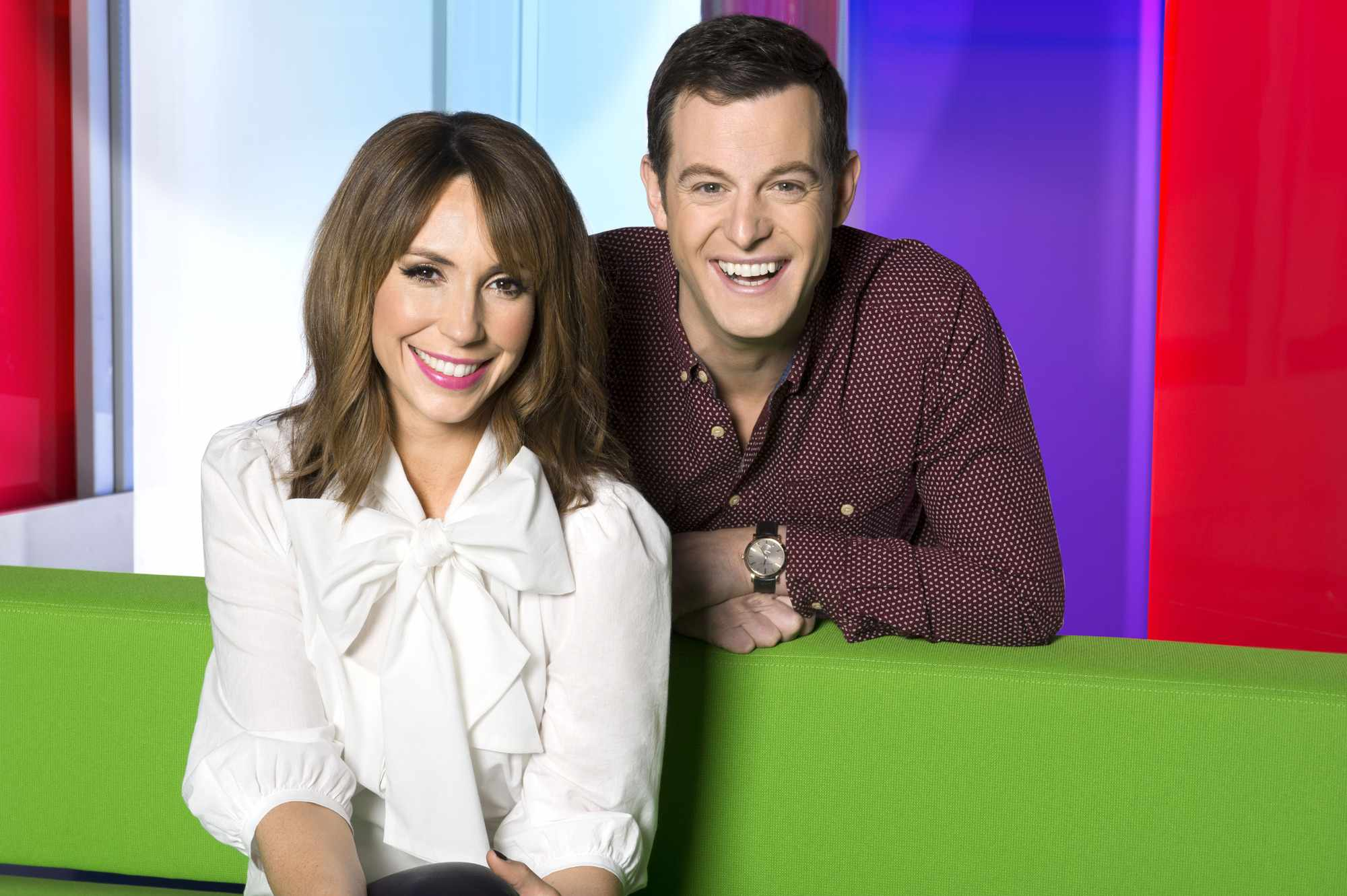 Programme Name: The One Show - TX: n/a - Episode: n/a (No. n/a) - Picture Shows: (L-R) Alex Jones, Matt Baker - (C) BBC - Photographer: Ray Burmiston