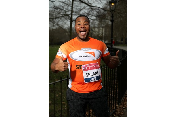 BAKER'S DOZEN WARM UP FOR 2018 VIRGIN MONEY LONDON MARATHON WITH PANCAKE RACE Selasi Gbormittah (Series 7; running for World Vision) leads the Baker's Dozen of Great British Bake Off contestants make a flipping good start to their Virgin Money London Marathon training with a pancake race in Hyde Park on Shrove Tuesday Free to use images - CREDIT: London Marathon Events Contact: media@londonmarathonevents.co.uk