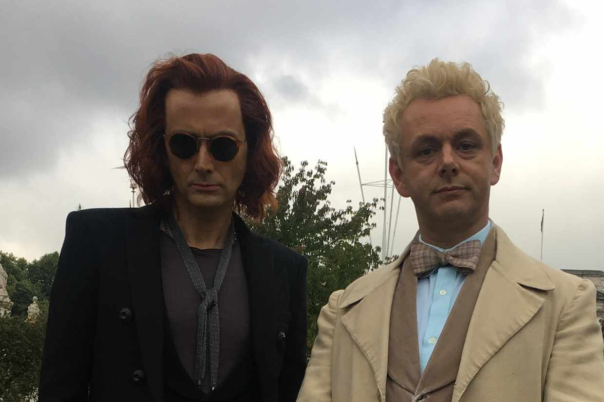 First look at David Tennant and Michael Sheen in Amazon Prime Video's Good Omens (Amazon)