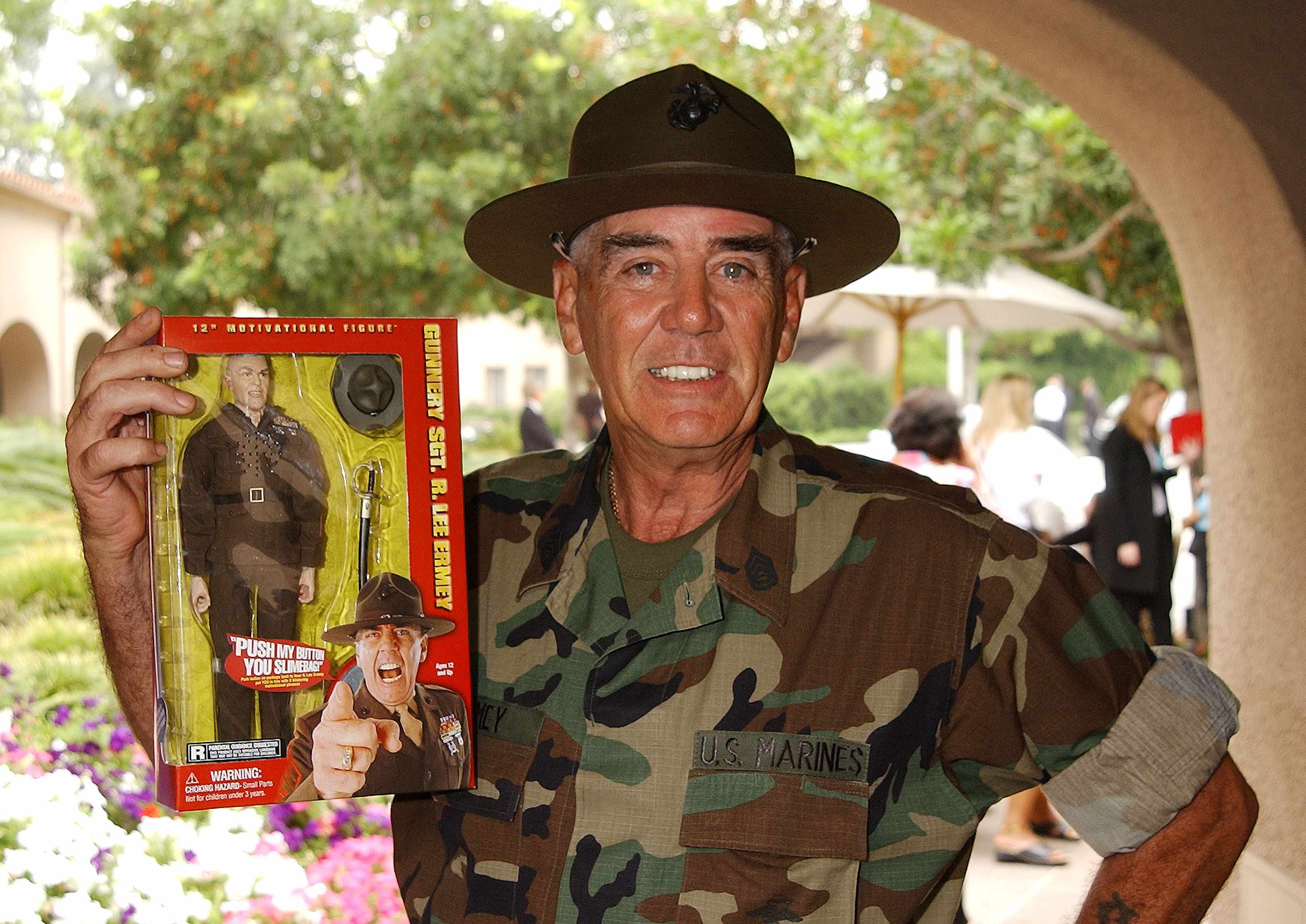Sgt. R. Lee Ermey during National Cable & Telecommunications Association Press Tour at The Ritz Carlton Pasadena Hotel in Pasadena, California, United States. (Photo by Gregg DeGuire/WireImage)