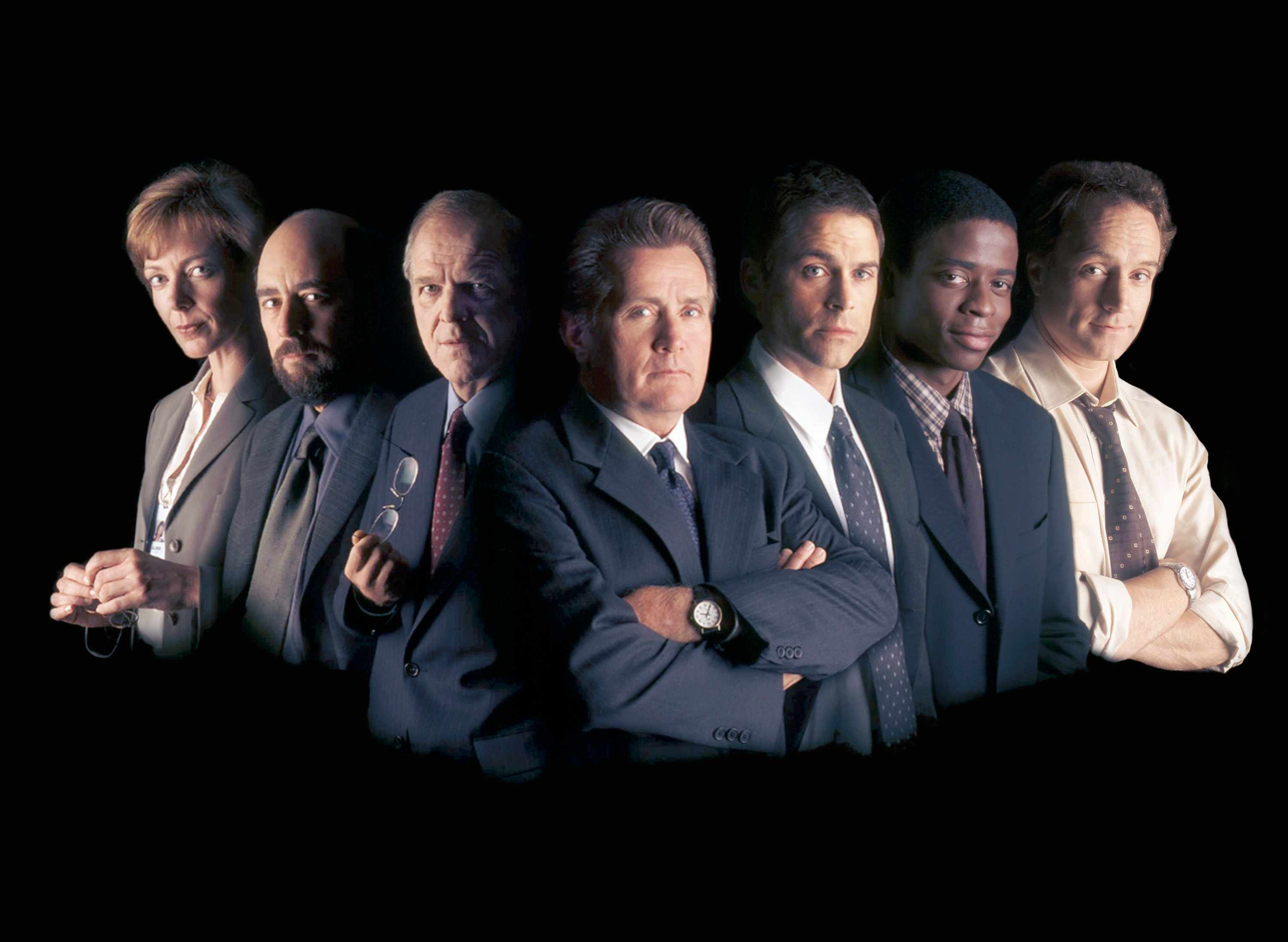 The cast of the first season of the west wing