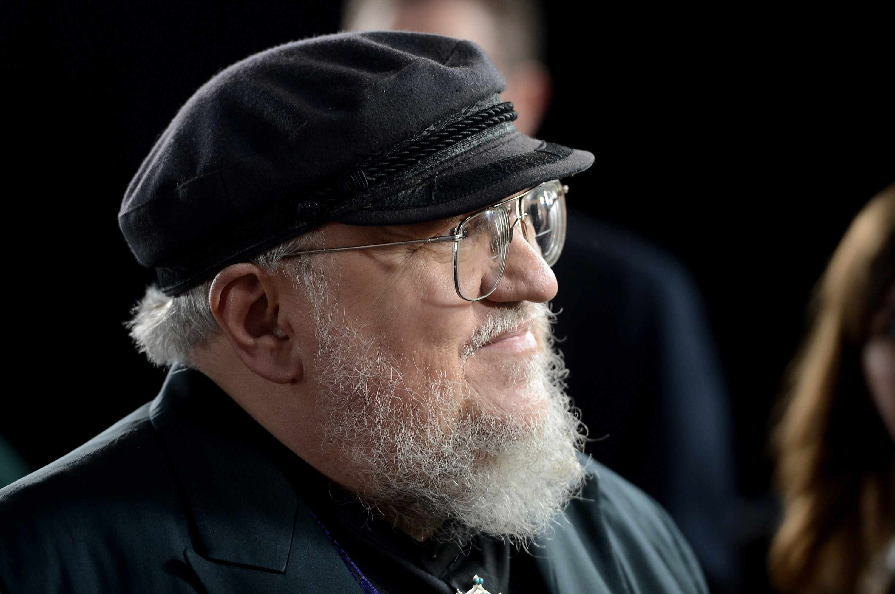 "HOLLYWOOD, CA - MARCH 18:  Co-Executive Producer George R.R. Martin arrives at the premiere of HBO's ""Game Of Thrones"" Season 3 at TCL Chinese Theatre on March 18, 2013 in Hollywood, California.  (Photo by Kevin Winter/Getty Images)  Getty, TL"