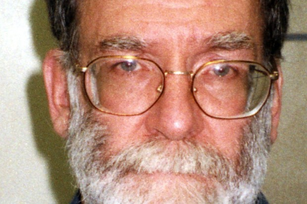 "LONDON - JANUARY 13: (UNDATED FILE PHOTO) Dr Harold Shipman is pictured in this undated Greater Manchester Police file photo. Shipman was found hanging dead in his cell on January 13, 2004, the day before his 58th birthday.  Shipman, nicknamed ""Dr. Death"" after his horrific killing spree came to light, was convicted in 2000 of murdering 15 of his patients and sentenced to life in prison. (Photo by Greater Manchester Police via Getty Images)"