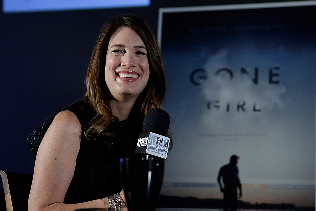 "NEW YORK, NY - SEPTEMBER 29:  Author Gillian Flynn speaks at the New York Film Critic Series Screening Of ""Gone Girl"" at AMC Empire on September 29, 2014 in New York City.  (Photo by John Lamparski/WireImage)"
