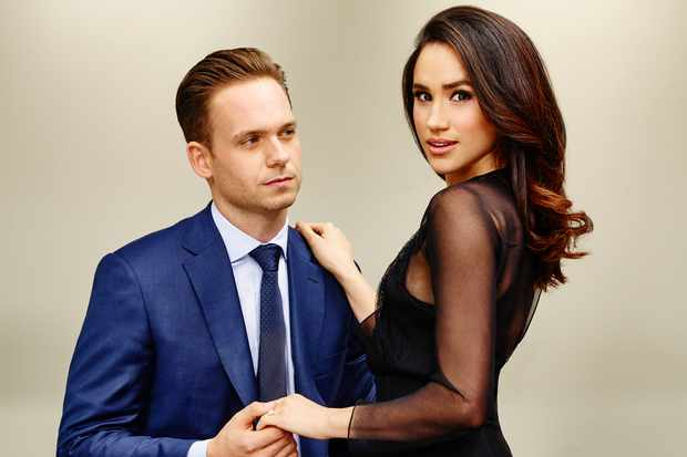 Patrick J Adams and Meghan Markle in Suits (Getty, EH)
