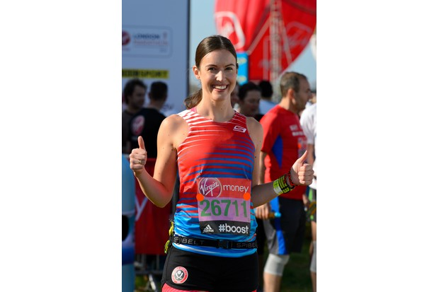 LONDON, ENGLAND - APRIL 13: Charlie Webster poses for photographs ahead of the Virgin Money London Marathon on April 13, 2014 in London, England. (Photo by Ben A. Pruchnie/Getty Images)