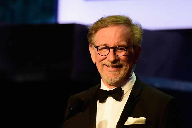 HOLLYWOOD, CA - JUNE 09: Director Stephen Spielberg onstage during American Film Institute?s 44th Life Achievement Award Gala Tribute show to John Williams at Dolby Theatre on June 9, 2016 in Hollywood, California. 26148_001  (Photo by Frazer Harrison/Getty Images for Turner)  TL