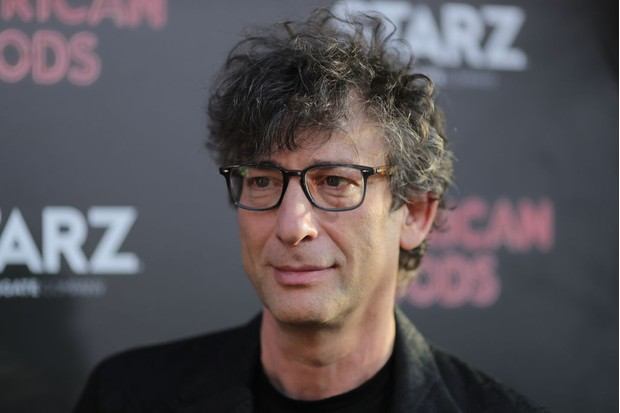 Neil Gaiman at the launch of American Gods (Getty)