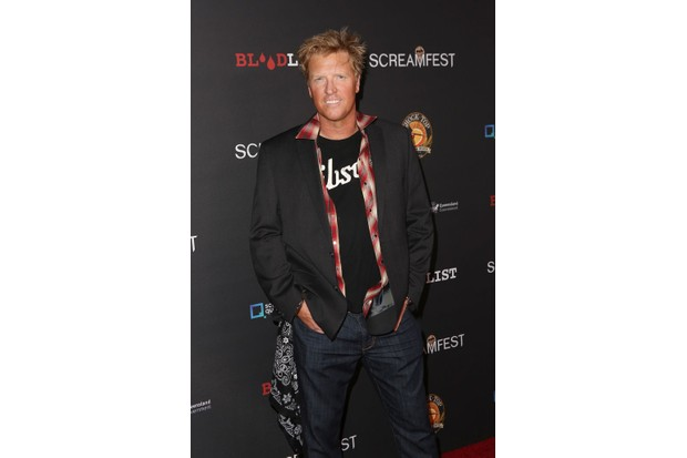 """HOLLYWOOD, CA - OCTOBER 10: Jake Busey at Screamfest Opening Night, premiere of """"Dead Ant"""" at Grauman's Chinese Theatre on October 10, 2017 in Hollywood, California. (Photo by Tasia Wells/Getty Images)"""