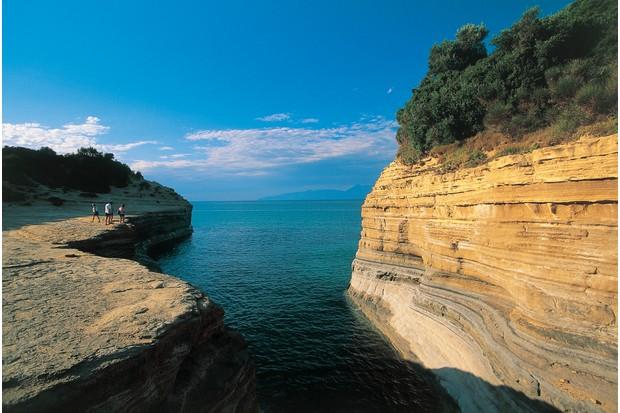 Rock formations at Sidari Beach, Corfu