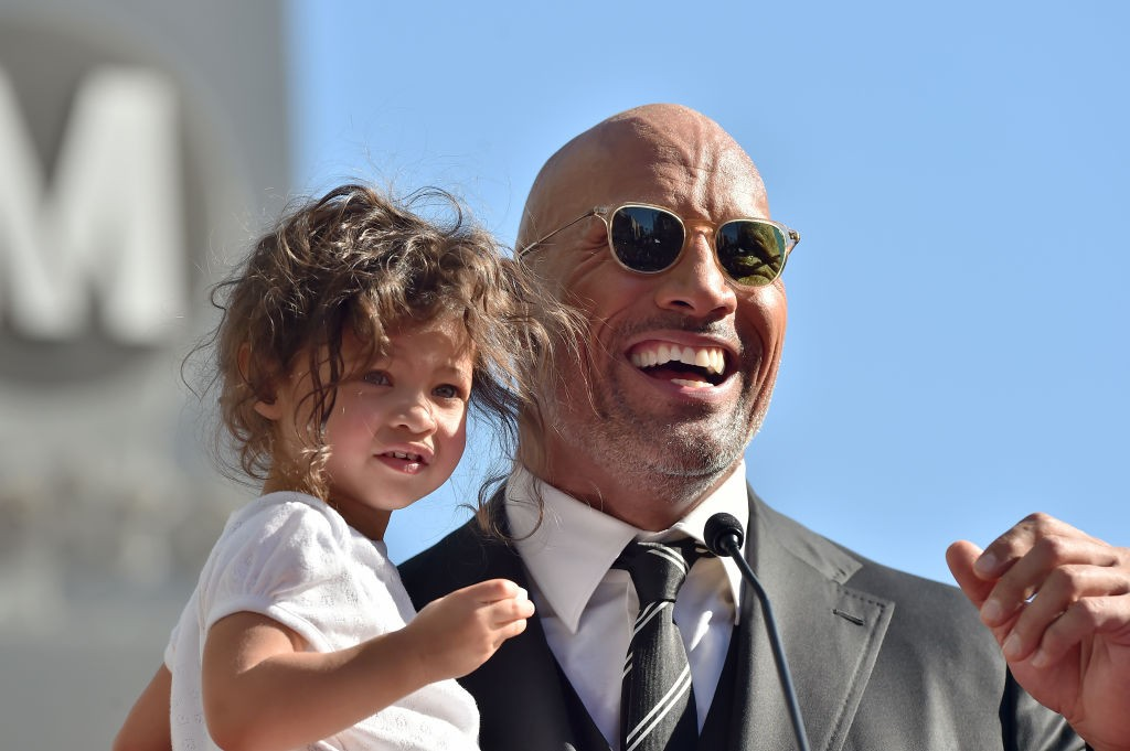 HOLLYWOOD, CA - DECEMBER 13:  Actor Dwayne Johnson and daughter Jasmine Johnson attend the ceremony honoring Dwayne Johnson with star on the Hollywood Walk of Fame on December 13, 2017 in Hollywood, California.  (Photo by Axelle/Bauer-Griffin/FilmMagic)