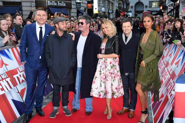 David Walliams, Anthony McPartlin, Simon Cowell, Amanda Holden, Declan Donnelly and Alesha Dixon at Britain's Got Talent auditions in 2018 (Getty, EH)