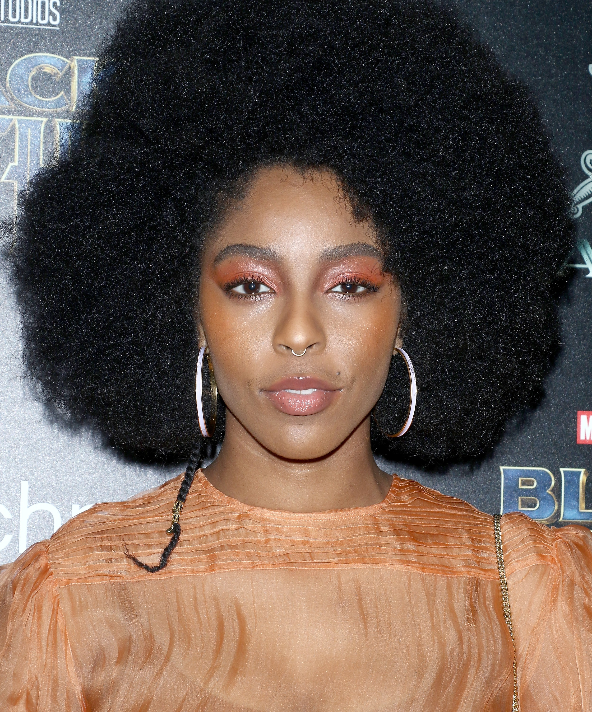 """NEW YORK, NY - FEBRUARY 13:  Jessica Williams attends the screening of Marvel Studios' """"Black Panther"""" hosted by The Cinema Society with Ravage Wines and Synchrony at Museum of Modern Art on February 13, 2018 in New York City.  (Getty Images/FC)"""