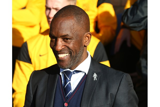 Chris Powell manager of Southend United during League One match between Southend United against Portsmouth at Roots Hall stadium, Southend England on 17 Feb 2018 (Photo by Kieran Galvin/NurPhoto via Getty Images)