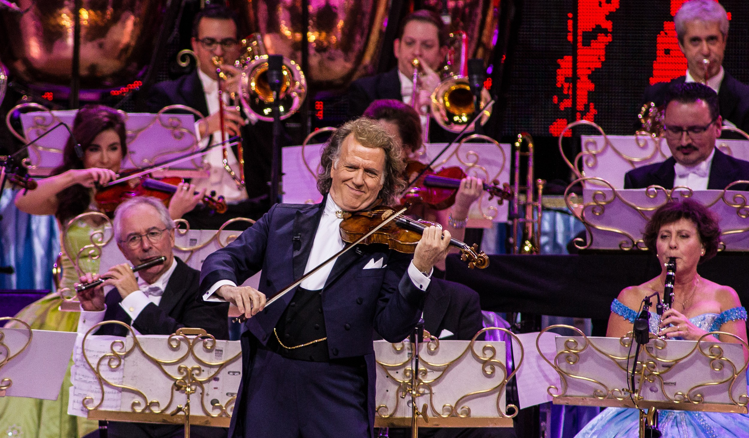 Dutch violinist and conductor Andre Rieu performs at Ziggo Dome, Amsterdam, Netherlands, 6th January 2018. (Photo by Paul Bergen/Redferns)