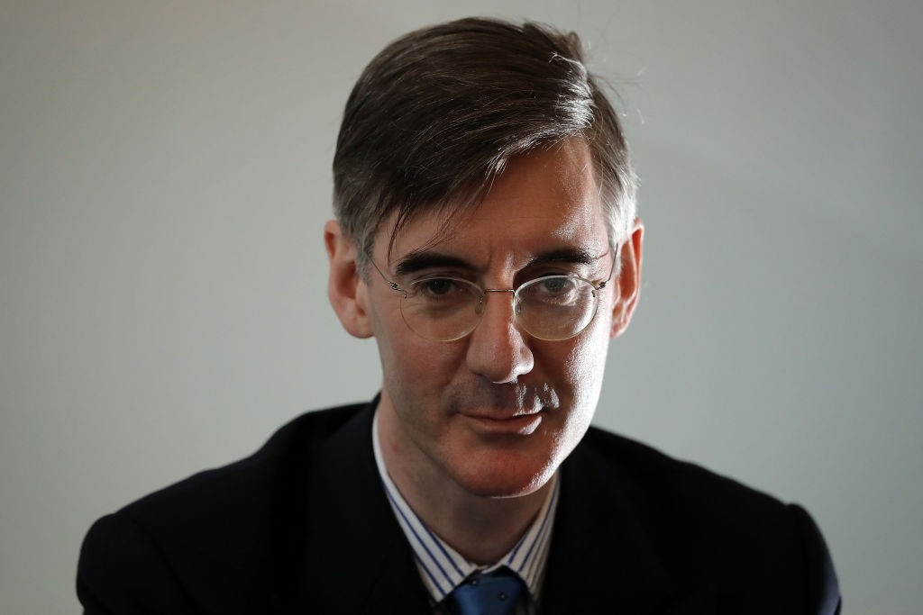 LONDON, ENGLAND - MARCH 27:  Conservative MP Jacob Rees-Mogg gives a Brexit speech at Carlton Gardens on March 27, 2018 in London, England. The speech was hosted by the pro Brexit 'Leave Means Leave' campaign group.  (Photo by Dan Kitwood/Getty Images)