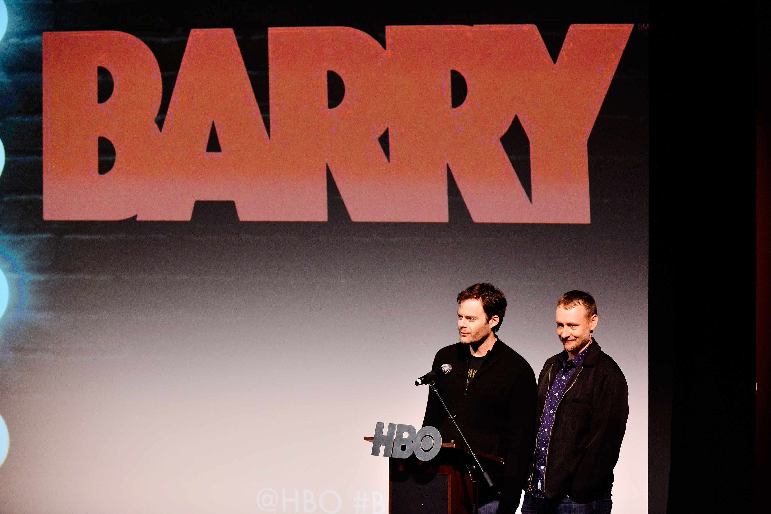 SAN DIEGO, CA - MARCH 27:  Bill Hader and Alec Berg attend the San Diego Premiere of Barry From HBO on March 27, 2018 in San Diego, California.  (Photo by FilmMagic/FilmMagic for HBO)