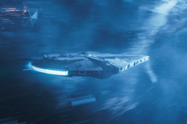 The Millenium Falcon in SOLO: A STAR WARS STORY (Lucasfilm, HF)