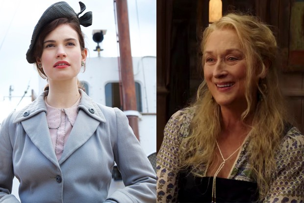 Lily James and Meryl Streep