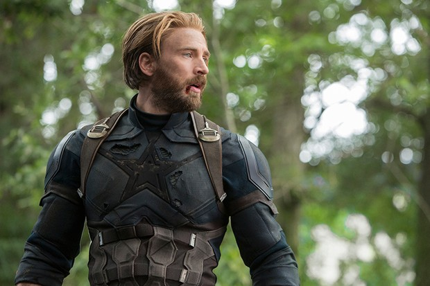 Chris Evans as Captain America in Avengers: Infinity War (Marvel, HF)