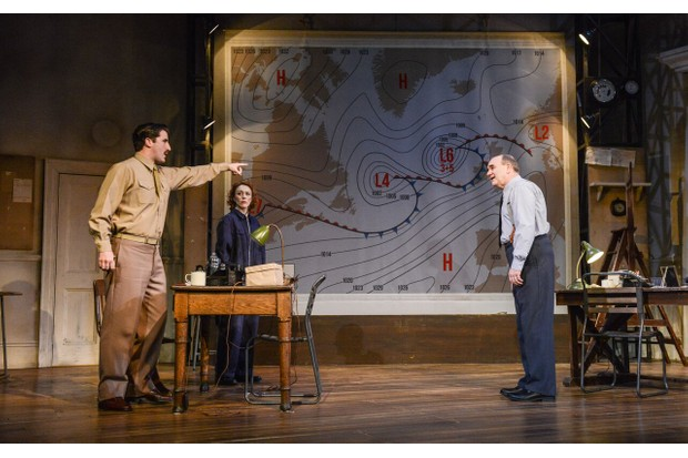 Philip Cairns, Laura Rogers and David Haig in Pressure (photos: Robert Day)
