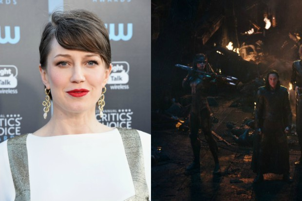 Carrie Coon, and Proxima Midnight (With Tom Hiddleston's Loki) in Avengers: Infinity War (Getty, Marvel, HF)